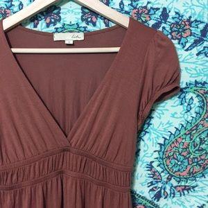 Lush | Mauve Elastic Waist Dress
